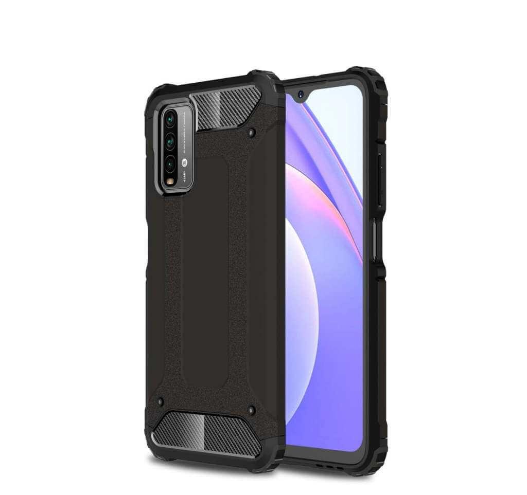 Lenuo Armor obal pro Xiaomi Poco M3, černá