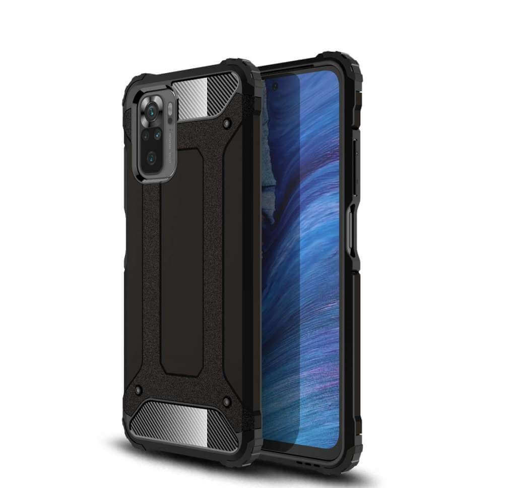 Lenuo Armor obal pro Xiaomi Redmi Note 10, černá