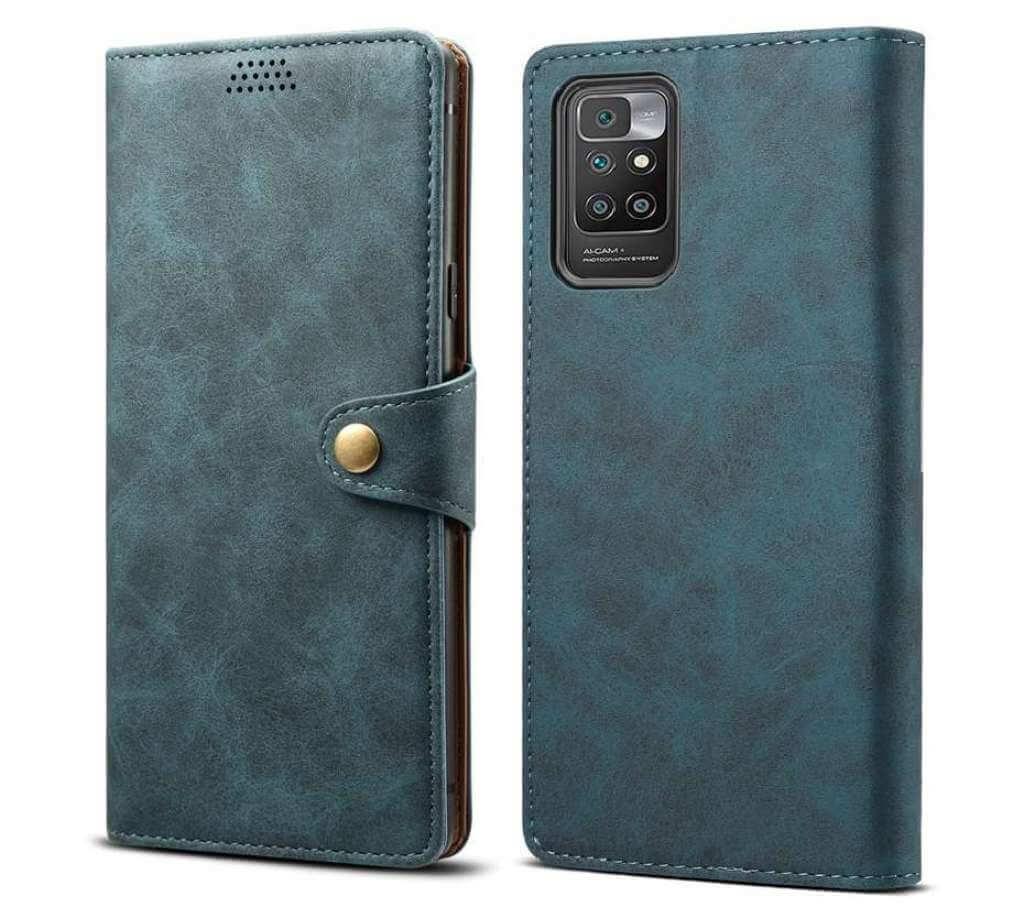 Lenuo Leather flipové pouzdro pro Xiaomi Redmi 10, modrá