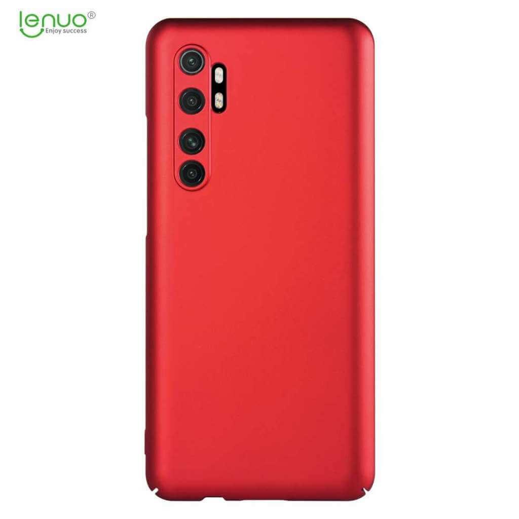 Obal Lenuo Leshield pro Xiaomi Mi Note 10 Lite, červená