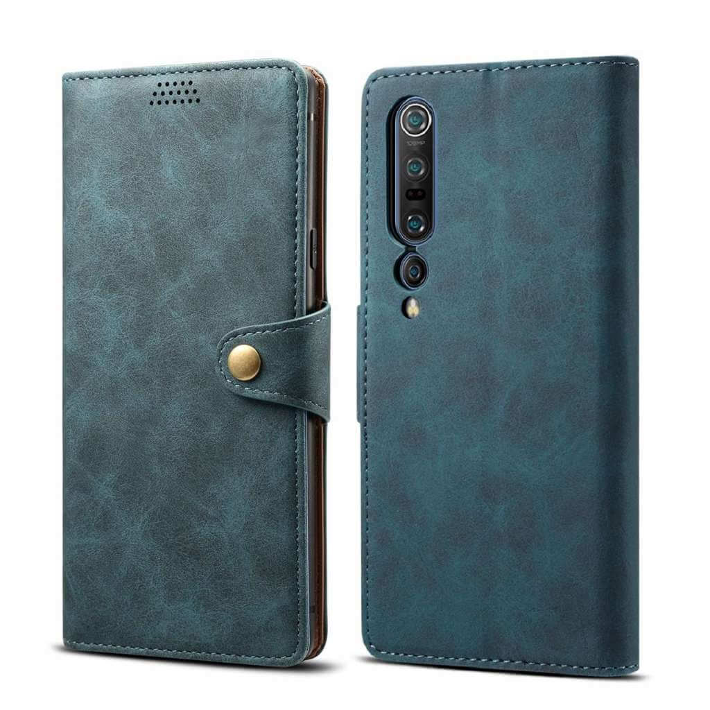 Pouzdro flipové Lenuo Leather pro Xiaomi Mi 10, modrá