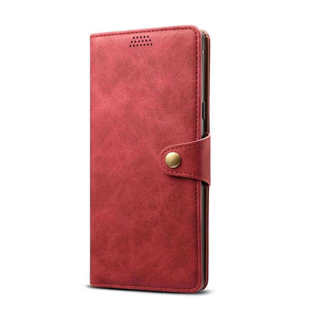 Pouzdro flipové Lenuo Leather pro Xiaomi Redmi 8, červená