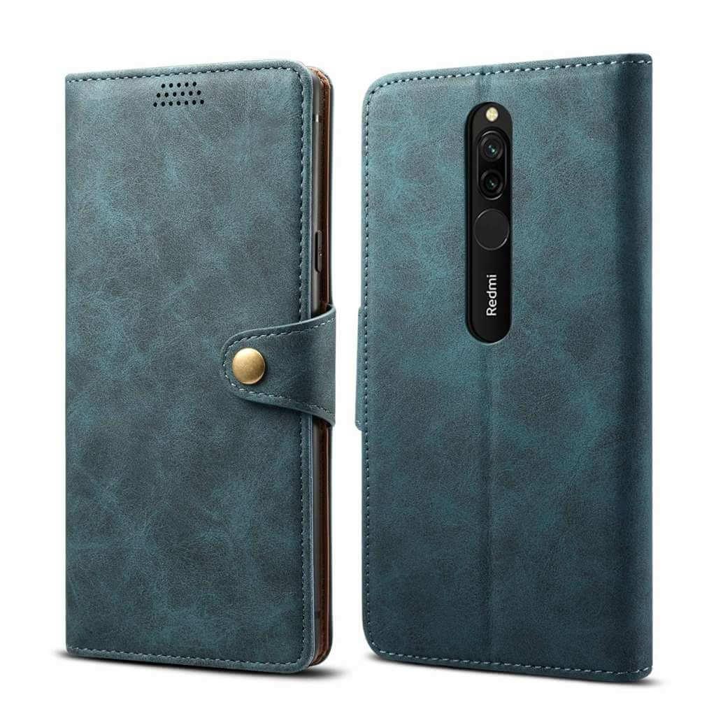 Pouzdro flipové Lenuo Leather pro Xiaomi Redmi 8, modrá