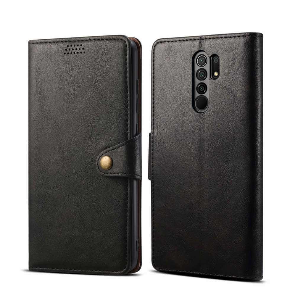 Pouzdro flipové Lenuo Leather pro Xiaomi Redmi 9, černá
