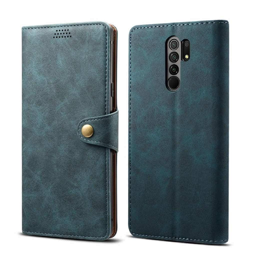Pouzdro flipové Lenuo Leather pro Xiaomi Redmi 9, modrá