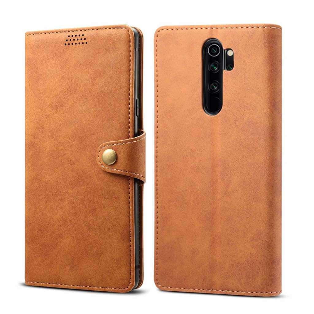 Pouzdro flipové Lenuo Leather pro Xiaomi Redmi Note 8 Pro, hnědá