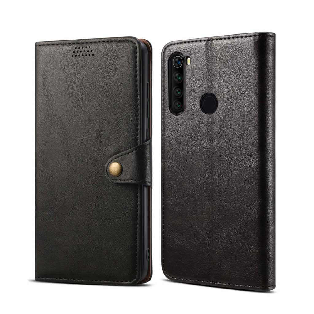 Pouzdro flipové Lenuo Leather pro Xiaomi Redmi Note 8T, černá