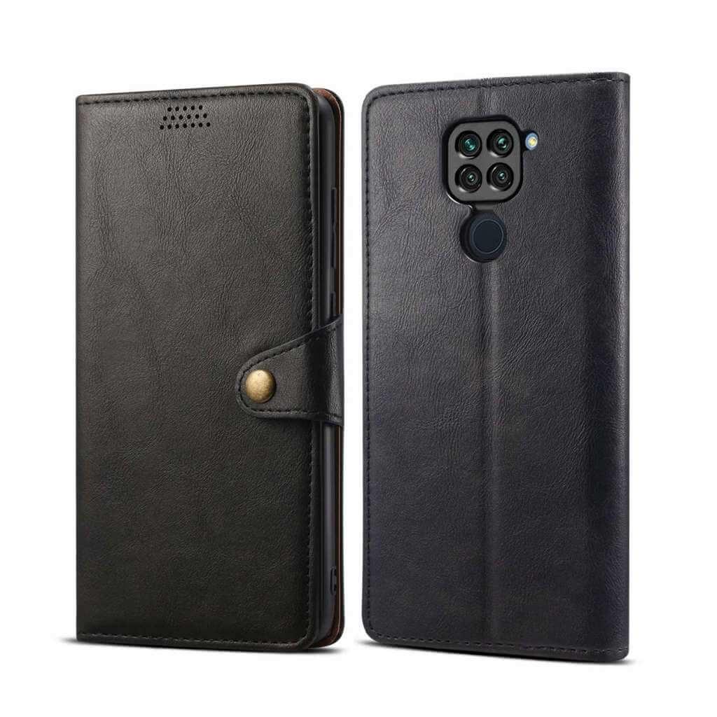 Pouzdro flipové Lenuo Leather pro Xiaomi Redmi Note 9, černá