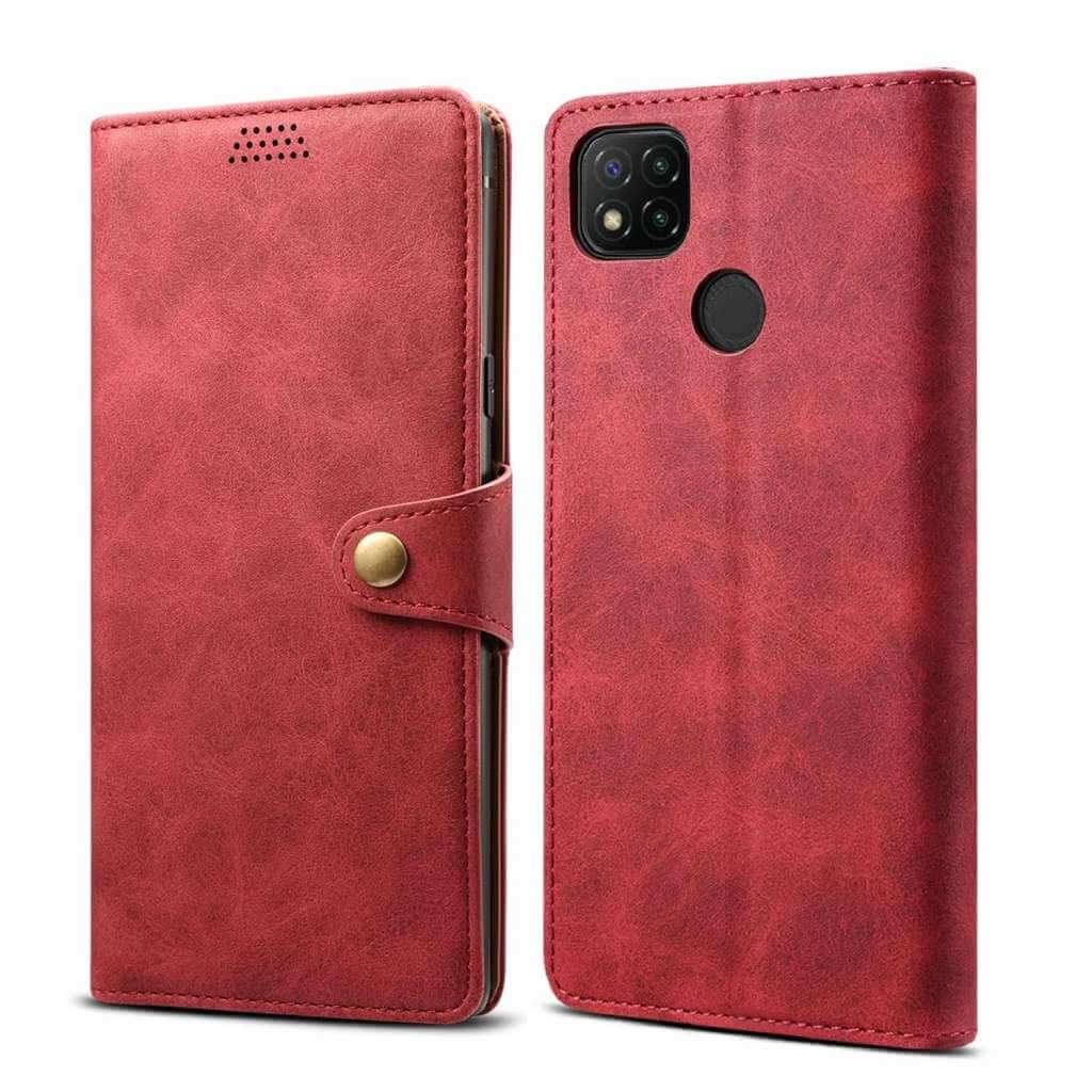 Pouzdro flipovéLenuo Leather pro Xiaomi Redmi 9C, červená