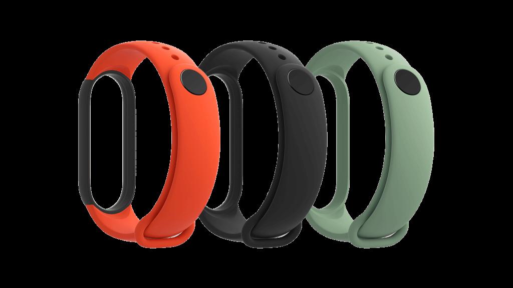Xiaomi Mi Band 5 Strap (Black, Orange, Cyan)