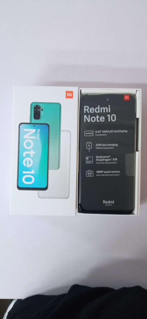 Xiaomi Redmi Note 10 4/128 GB černá ROZBALENO