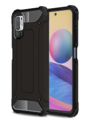 Lenuo Armor obal pro Xiaomi Redmi Note 10 5G, černá