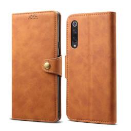 Lenuo Leather flipové pouzdro na Xiaomi Mi 9 SE hnědá
