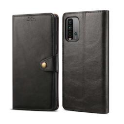 Lenuo Leather flipové pouzdro pro Xiaomi Redmi 9T, černá