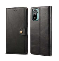 Lenuo Leather flipové pouzdro pro Xiaomi Redmi Note 10, černá
