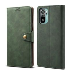Lenuo Leather flipové pouzdro pro Xiaomi Redmi Note 10, zelená