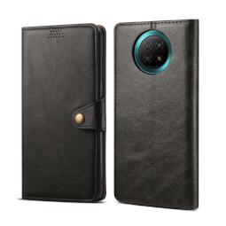 Lenuo Leather flipové pouzdro pro Xiaomi Redmi Note 9T, černá