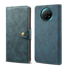 Lenuo Leather flipové pouzdro pro Xiaomi Redmi Note 9T, modrá