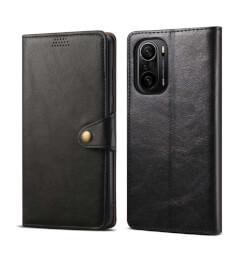 Pouzdro flipové Lenuo Leather pro Poco F3, černá