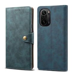 Pouzdro flipové Lenuo Leather pro Poco F3, modrá
