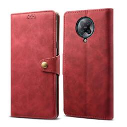 Pouzdro flipové Lenuo Leather pro Xiaomi Poco F2 Pro, červená