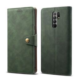 Pouzdro flipové Lenuo Leather pro Xiaomi Redmi 9, zelená
