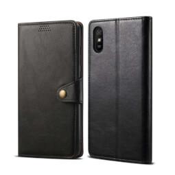 Pouzdro flipové Lenuo Leather pro Xiaomi Redmi 9A, černá