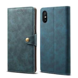 Pouzdro flipové Lenuo Leather pro Xiaomi Redmi 9A, modrá