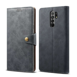 Pouzdro flipové Lenuo Leather pro Xiaomi Redmi 9c, šedá