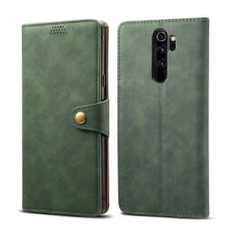 Pouzdro flipové Lenuo Leather pro Xiaomi Redmi Note 8 Pro, zelená