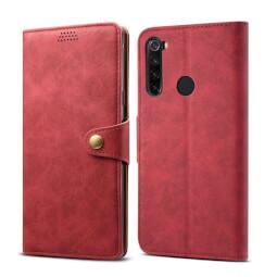Pouzdro flipové Lenuo Leather pro Xiaomi Redmi Note 8T, červená