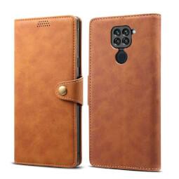 Pouzdro flipové Lenuo Leather pro Xiaomi Redmi Note 9, hnědá