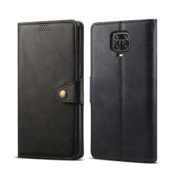 Pouzdro flipové Lenuo Leather pro Xiaomi Redmi Note 9 Pro/ Note 9S, černá