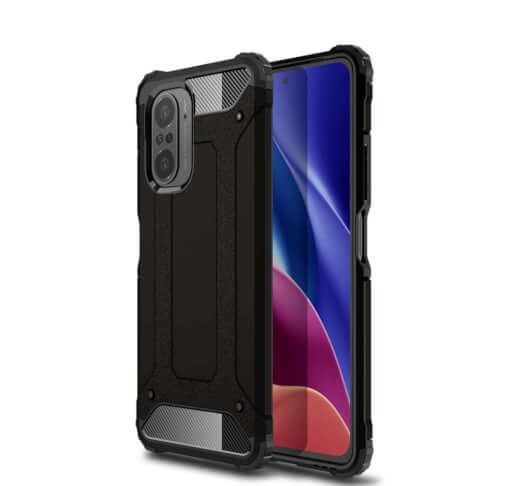 Lenuo Armor obal pro Xiaomi Poco F3, černá