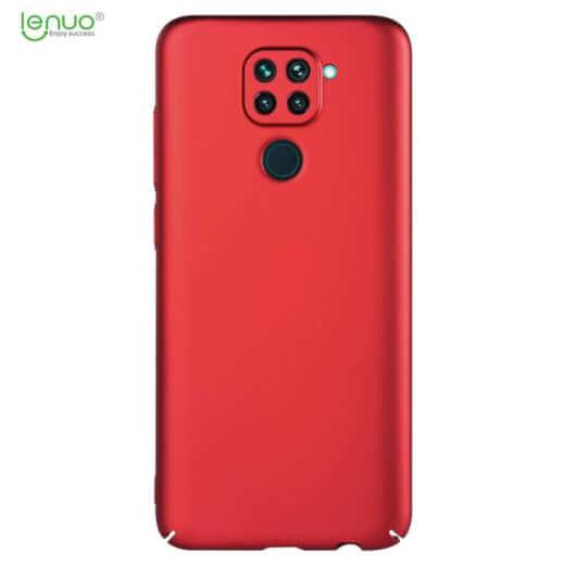 Obal Lenuo Leshield pro Xiaomi Redmi Note 9, červená