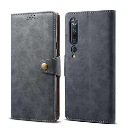 Pouzdro flipové Lenuo Leather pro Xiaomi Mi 10, šedá