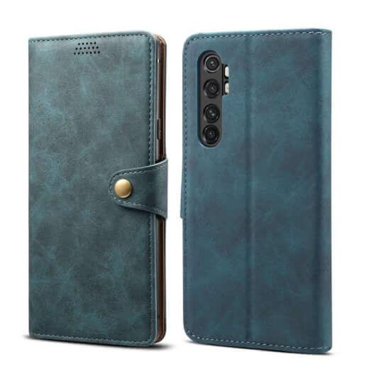 Pouzdro flipové Lenuo Leather pro Xiaomi Mi Note 10 Lite, modrá