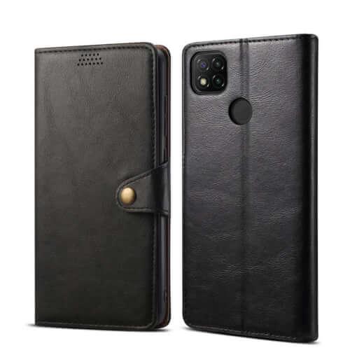 Pouzdro flipové Lenuo Leather pro Xiaomi Redmi 9C, černá
