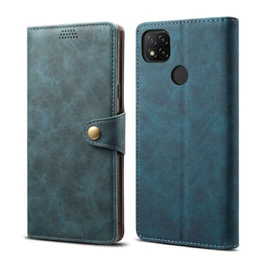 Pouzdro flipové Lenuo Leather pro Xiaomi Redmi 9C, modrá