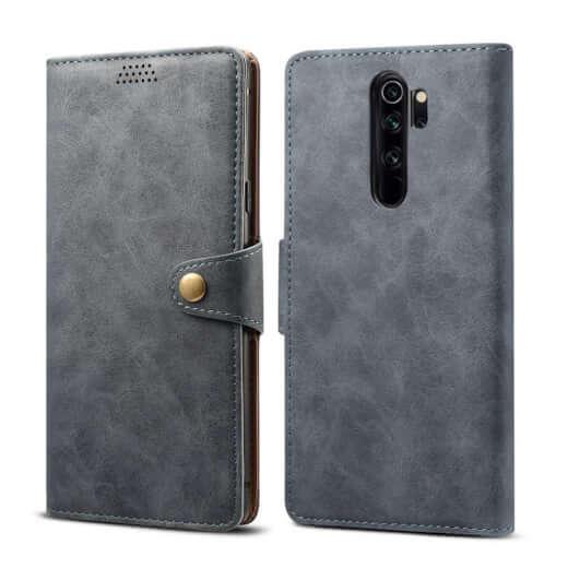 Pouzdro flipové Lenuo Leather pro Xiaomi Redmi Note 8 Pro, šedá