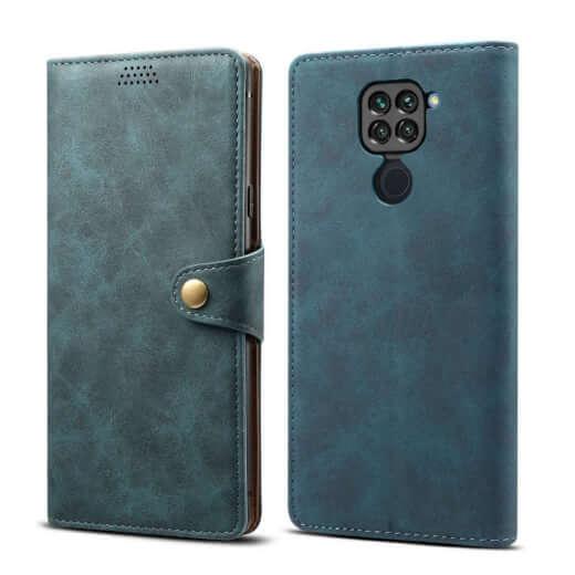 Pouzdro flipové Lenuo Leather pro Xiaomi Redmi Note 9, modrá