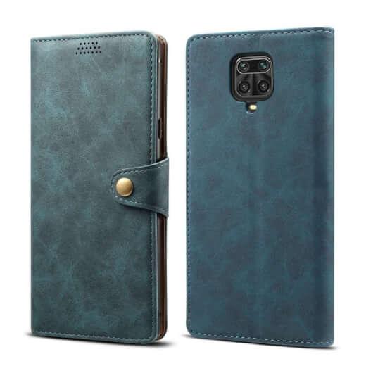 Pouzdro flipové Lenuo Leather pro Xiaomi Redmi Note 9 Pro/ Note 9S, modrá