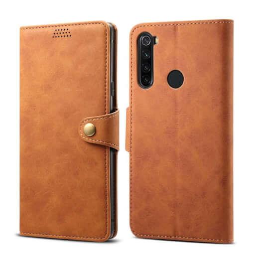 Pouzdro flipové Lenuo Leatherpro Xiaomi Redmi Note 8, hnědá