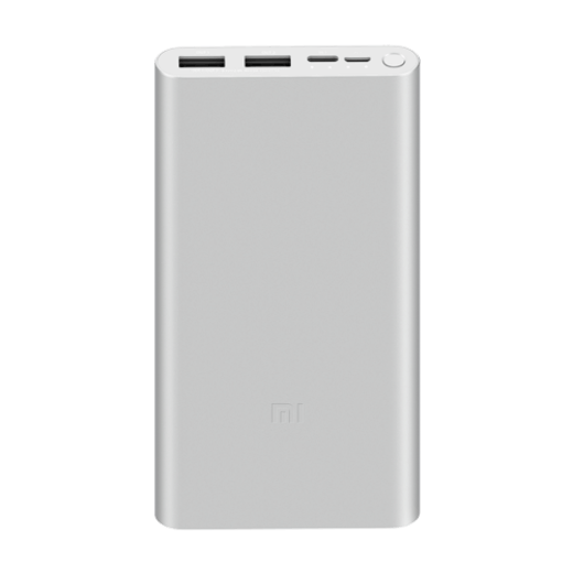 Xiaomi Mi 18W Fast Charge Power Bank 10000mAh 3 stříbrná