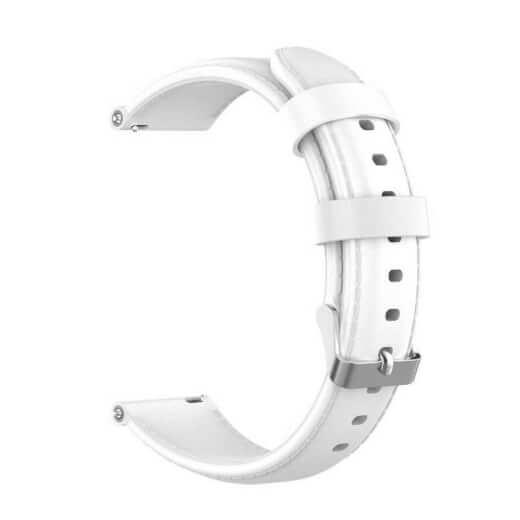 Xiaomi univerzální kožený strap 20 mm (bílá)